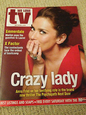WE LOVE TV MAG SEPT 2013 ANNA FRIEL BENEDICT CUMBERBATCH JACK DONNELLY ATLANTIS