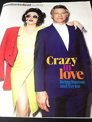 HELENA BONHAM CARTER interview DOMINIC WEST UK 1 DAY ISSUE BRAND NEW JULY 2013