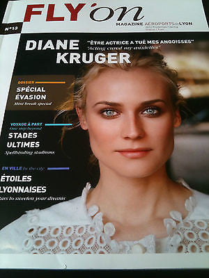 2012 FLY ON MAGAZINE: DIANE KRUGER COVER FRENCH ISSUE AEROPORTS DE LYON