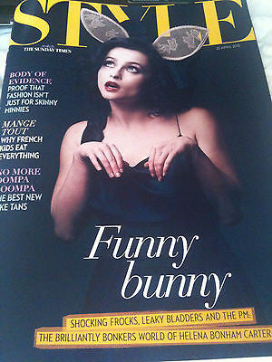*** NEW UK !! HELENA BONHAM CARTER inter/w JESSIE WARE MORGANA ROBINSON ****
