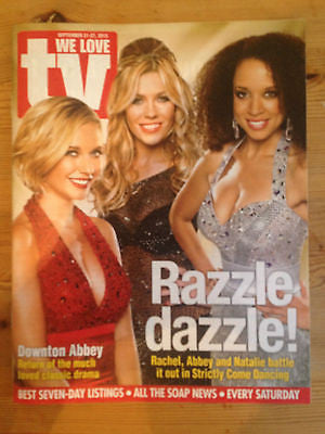 WE LOVE TV MAGAZINE ABBEY CLANCY RACHEL RILEY DOWNTON ABBEY LISA MAXWELL