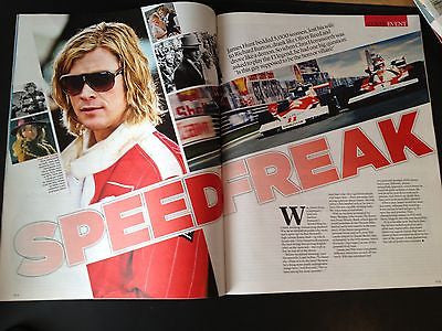 JAMES HUNT UK mag 2013 CHRIS HEMSWORTH ONE DIRECTION BREAKING BAD AARON PAUL