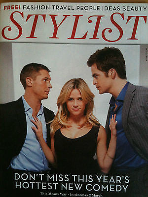 NEW STYLIST MAG: TOM HARDY CHRIS PINE REESE WITHERSPOON MICHAEL FASSBENDER
