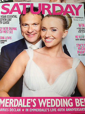 NEW Saturday Mag Emmerdale 40th Marty Wilde KRISTINA RIHANOFF GABRIEL BYRNE