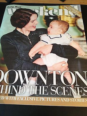 DOWNTON ABBEY UKmag 2013 BRENDAN COYLE MICHELLE DOCKERY MAGGIE SMITH ED SPEELERS