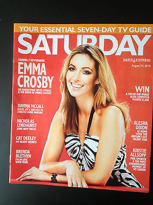 MEW SATURDAY MAGAZINE EMMA CROSBY Nana Mouskouri Suranne Jones Cat Deeley
