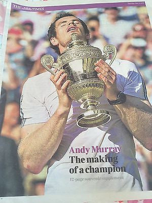 Andy Murray - Making of a Champion - 12 page Times UK supplement Wimbledon 2013