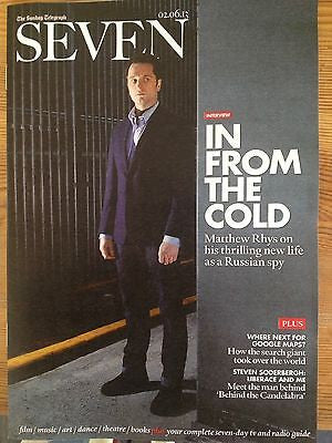 MATTHEW RHYS THE AMERICANS PHOTO COVER INTERVIEW UK MAGAZINE JUNE 2013 NEW