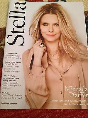 MICHELLE PFEIFFER PHOTO INTERVIEW UK STELLA MAGAZINE NOV 2013 GEORGIA MAY JAGGER
