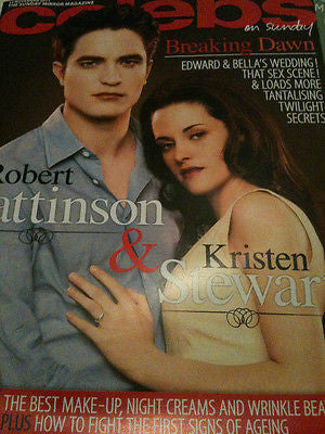 ROBERT PATTINSON TWLIGHT KRISTEN STEWART UK MAGAZINE COLLECTORS EDITION RARE