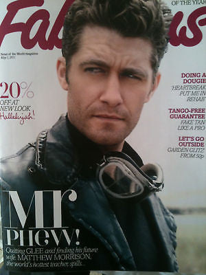 ** NEW UK !! MATTHEW MORRISON Glee! PHOTO INTERVIEW FABULOUS MAGAZINE ***