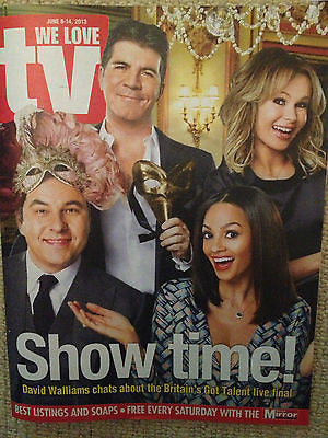 WE LOVE TV JUNE 2013 SIMON COWELL DAVID WALLIAMS PHILIP GLENISTER DAVID SUCHET