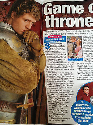 WE LOVE TV MAGAZINE JUNE 15 2013 MAX IRONS WHITE QUEEN MATTHEW RHYS EMMA WILLIS