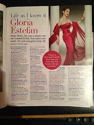 NEW S Magazine GLORIA ESTEFAN LEO SAYER TY GLASER MINNIE DRIVER (October 2013)