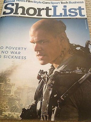 ELYSIUM UK mag 2013 MATT DAMON SAM ROCKWELL MARK STRONG DEAN NORRIS JOE THOMAS
