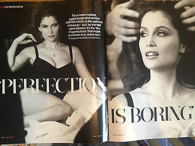 LAETITIA CASTA interview DOLCE & GABBANA BRAND NEW UK 1 DAY ISSUE AUGUST 2013