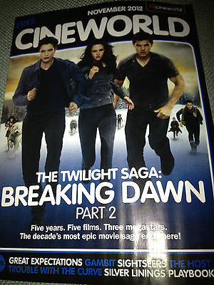 NEW CINEWORLD MAGAZINE ROBERT PATTINSON KRISTEN STEWART TAYLOR LAUTNER TWILIGHT
