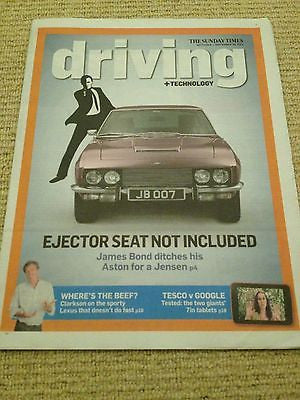 James Bond 007 Aston Martin UK Driving Supplement Cover September 29 2013 New
