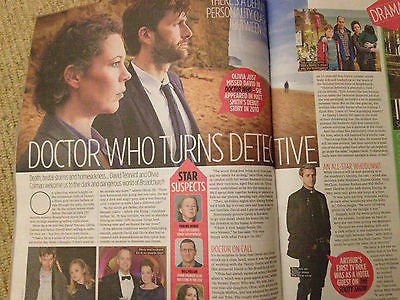 NEW TV MAGAZINE DAVID TENNANT OLIVIA COLMAN RUSSELL BRAND JENNIFER METCALFE