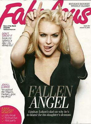 ** NEW UK !! LINDSAY LOHAN inter/w FABULOUS COVER magazine ***