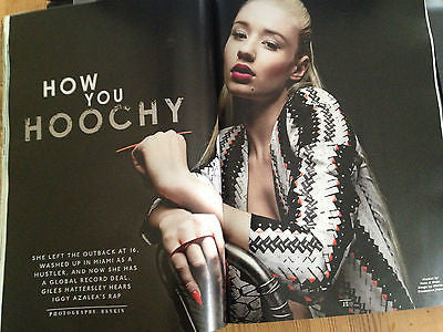 IGGY AZALEA interview SHE'S HOOCHY AND SHE'S HERE UK 1 DAY ISSUE BRAND NEW ISSUE