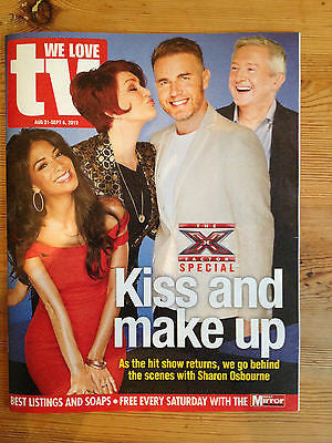 NEW WE LOVE TV MAGAZINE MARTIN CLUNES GLYNIS BARBER MICHAEL BRANDON GARY BARLOW