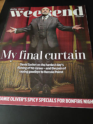 NEW WEEKEND MAGAZINE DAVID SUCHET ROY MARSDEN BOY GEORGE ANNEKA RICE VIVEN LEIGH