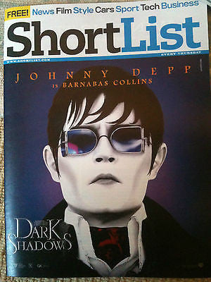 NEW Shortlist: JOHNNY DEPP JONNY LEE MILLER SHAUN WHITE JEREMY RENNER ED NORTON