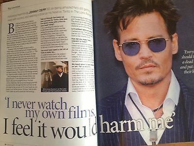 Notebook Magazine - Johnny Depp cover 4 August 2013 Kimberley Walsh Colin Firth