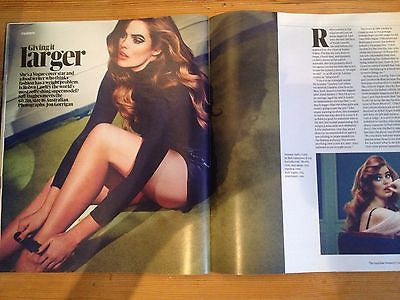 ALLISON JANNEY interview RUSSELL TOVEY UK 1 DAY ISSUE 2013 ROBYN LAWLEY