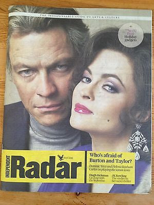 DOMINIC WEST interview HELENA BONHAM CARTER UK 1 DAY ISSUE 2013 HUGH JACKMAN