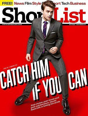 BRAND NEW SHORTLIST MAGAZINE = DANIEL RADCLIFFE HARRY POTTER EQUUS ZACH BRAFF