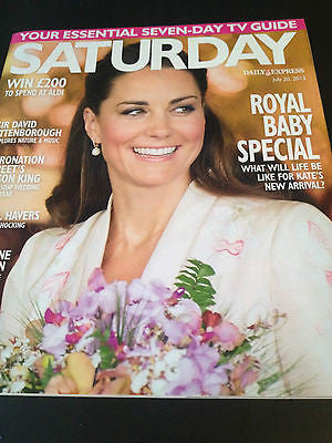 Saturday Mag- 20 July 2013 Kate Middleton Royal Baby Alison King Ashleigh Brewer