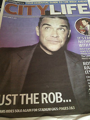 New UK Robbie Williams Manchester Evening News City Life Promo Cover Clippings