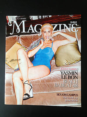 THE TIMES Magazine Yasmin Le Bon Cover Blonde Hair New Pics Simon Duran Duran