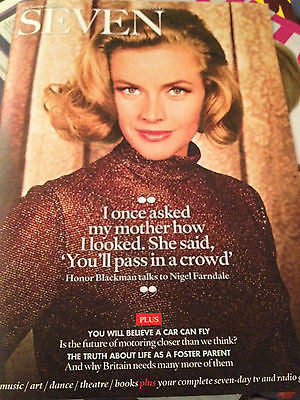 HONOR BLACKMAN - THE AVENGERS NEW UK COVER SEVEN MAGAZINE - DR WHO BOND GIRL