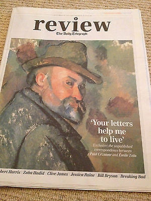 Telegraph Review September 2013 Cezanne Emile Zola Jessica Raine Haim Bill Bryson