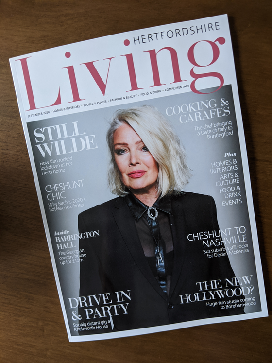 Living Magazine September 2020 Kim Wilde Cover
