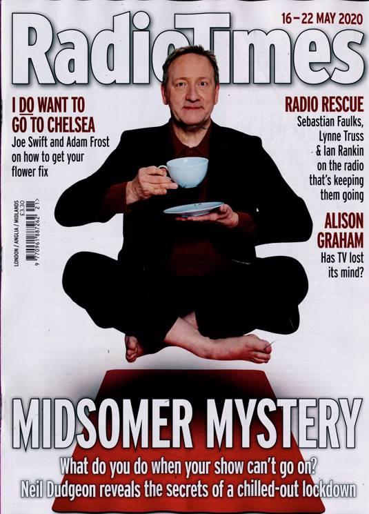 Radio Times Magazine 16 May 2020: Neil Dudgeon Midsomer Murders Tony Slattery