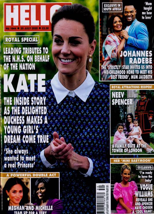 UK Hello! Magazine July 20th 2020: KATE MIDDLETON RINGO STARR The Beatles