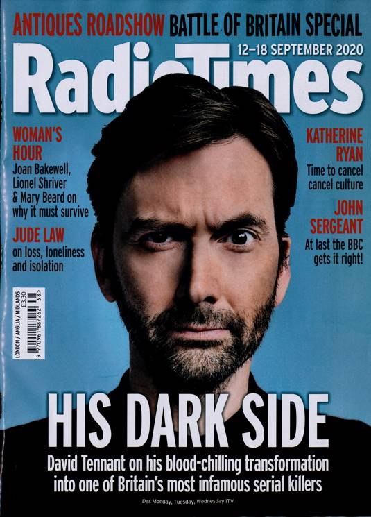 Radio Times Magazine 12 SEPT 2020: DAVID TENNANT Jude Law LUKE TREADAWAY