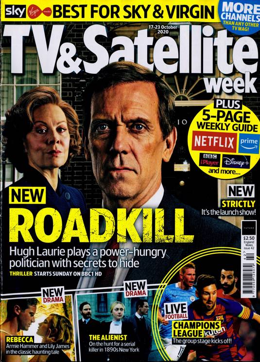 TV & SATELLITE Mag 10/2020: HUGH LAURIE Helen McCrory DAKOTA FANNING Luke Evans