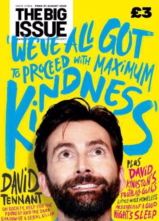 UK Big Issue Magazine September 2020 David Tennant Exclusive