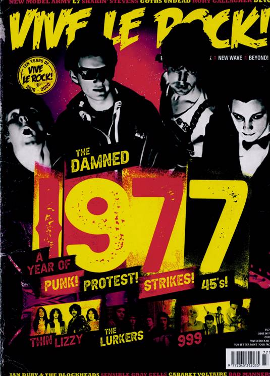 VIVE LE ROCK magazine Issue 77 THE DAMNED Thin Lizzy THE LURKE 999