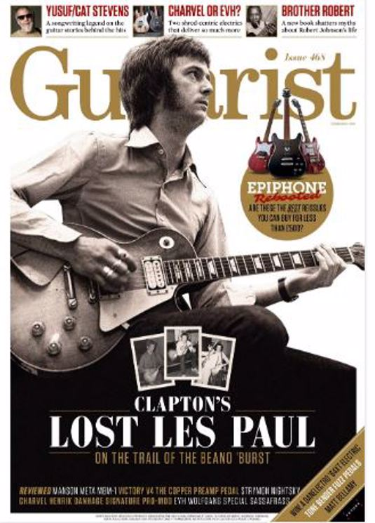 Guitarist February 2021 Issue 468: ERIC CLAPTON LOST LES PAUL COVER FEATURE