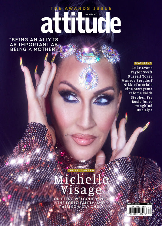 UK Attitude Magazine #330: MICHELLE VISAGE COVER FEATURE Taylor Swift