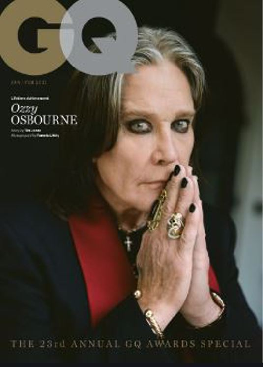 OZZY OSBOURNE GQ MAGAZINE UK JAN/FEB 2021 BRITISH EDITION NEW