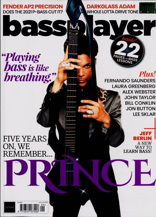 Bass Player Magazine June 2021 #409 Prince Rogers Nelson