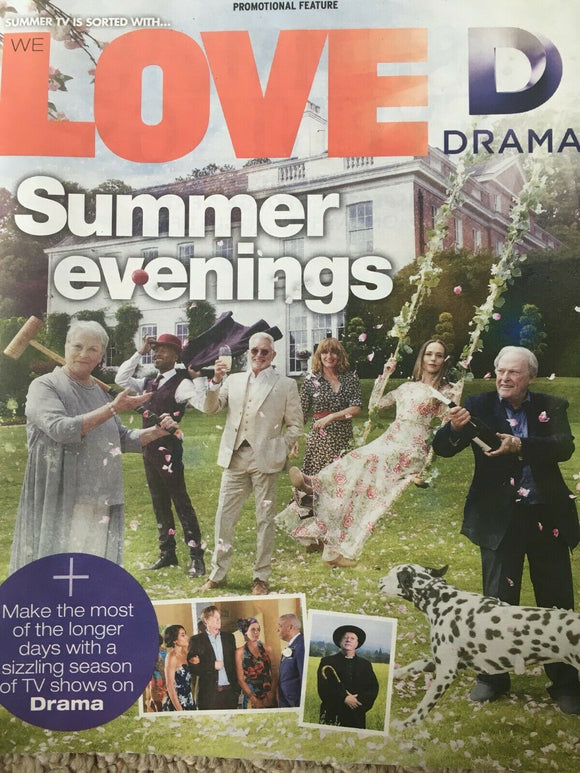 LOVE TV Magazine 07/2019: JENNIFER SAUNDERS Martin Shaw EVE MYLES