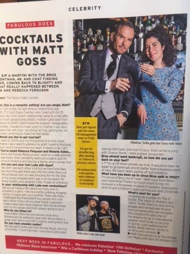 Fabulous Magazine January 2018 SUSANNA REID COVER INTERVIEW MATT GOSS BROS